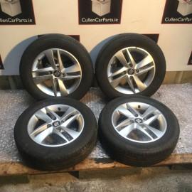R14 4 stud alloy wheel set x4 Seat Mii 2011-2018 petrol 1.0